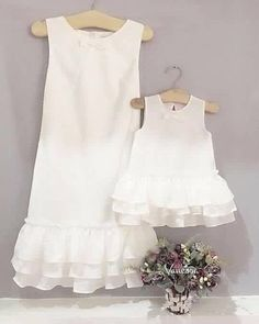 37 Best Ideas For Baby Kids Clothes Mom, Diy Abschnitt, Mom And Baby Dresses, Mom Dress, Little Girl Dresses, Girls Dresses, Mother Daughter Matching Outfits, Mother Daughter Fashion, Mother Daughters, Mama Baby, Baby Kids Clothes