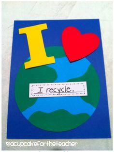 A Cupcake for the Teacher: Heart the Earth {Craftivities}