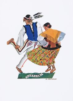polish dance by Zofia Stryjeńska Polish Folk Art, Political Art, Folk Dance, Great Paintings, Historical Images, My Heritage, Art And Architecture, Traditional Outfits, Painting Inspiration