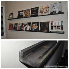 DIY record display shelf