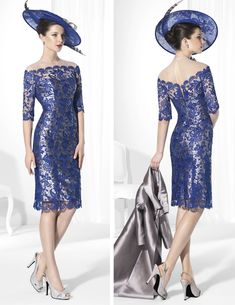 Cheap Mother of the Bride Dresses, Buy Directly from China Suppliers: New 2015 vestido mae da noiva Lace Mother Of The Bride Dress Knee Length Long Satin Coat Stand Collar Women Occa Bride Gowns, Bridal Dresses, Lace Dresses, Prom Dresses, Vestidos Vintage, Formal Dresses For Women, Mothers Dresses, Knee Length Dresses, Occasion Dresses