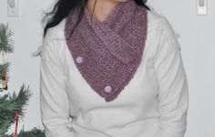 Pontos encantados: Gola em lã