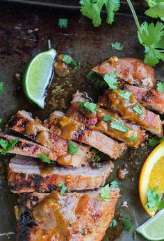 Grilled Pork Tenderloin with Peanut-Lime Sauce