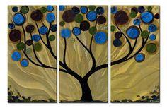 Vivid Silhouette Tree Wall Panels
