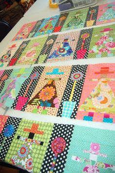 Ladies Quilt - I love little people on quilts. You could have an 'all around the world' one.  xxx