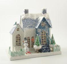Putz Houses | Mica Putz Vintage House | Putz/Glitter Houses | Pinterest