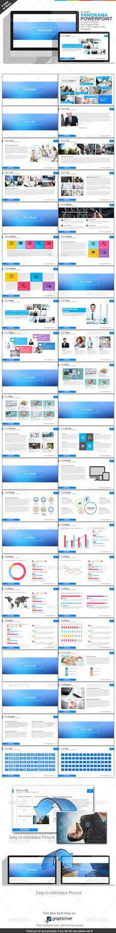 Gstudio Panorama Powerpoint Template - Business Powerpoint Templates