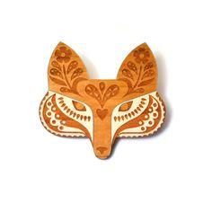 (via Painted Folk Fox Brooch [TBP11] - $35.00: A Skulk Of Foxes)