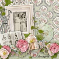 This page is sheer perfection!  That paper is the perfect backdrop for the photo and elements.  Made with #Forever Friends by #Snickerdoodle Designs.  #theStudio #digiscrap #vintage