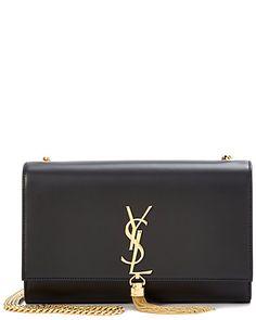 Saint Laurent Classic Medium Kate Monogram Leather Tassel Satchel