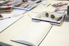 Note book and notes during Interior Decoration and Styling. Photograph: Spine Photographic