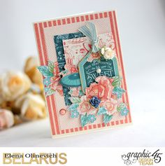Funny Flowers Cards featuring Cafe Parisisan, by Elena Olinevich, product by Graphic45