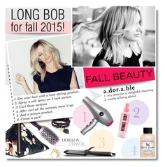Fall Hairstyle by jennyladadeladadaa on Polyvore featuring beauty, blow, Bumble and bumble, GHD, Marc by Marc Jacobs, Mudd and Givenchy