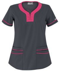 Butter-Soft Scrubs by UA™ Lace-Up Neck Scrub Top