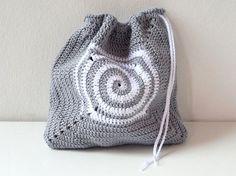Patrón de bolsa de ganchillo con detalle en espiral by Puntxet