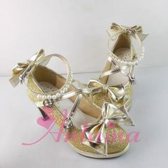 Lolita baby shoes bow pearl sequins paragraph fine with customized Taobao buy 1-5006-