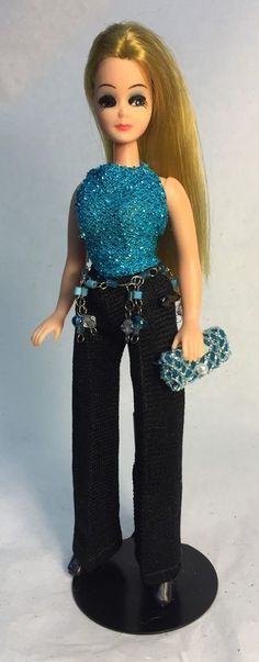 Topper Dawn Doll/K11A In Custom Shirt & Belt, Dizzy Girl Pants, Dawn Boots Purse