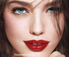 Simple-Love the red lips.