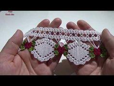 Photo from album Crochet Motifs, Crochet Borders, Filet Crochet, Crochet Patterns, Crochet Flower Tutorial, Crochet Flowers, Crochet Lace, Crochet Video, Viking Tattoo Design