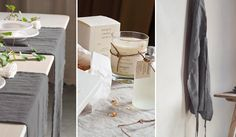 love the simple table runners