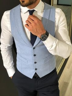 Available Size : US/EU material : wool , acrylic , elastan Machine washable : No Fitting : slim-fit Remarks : Dry Cleaner Mens Casual Suits, Grey Suit Men, Mens Fashion Suits, Mens Slim Fit Suits, Ropa Semi Formal, Blazer Outfits Men, Formal Men Outfit, Indian Men Fashion, Designer Suits For Men