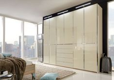 Wiemann VIP Shanghai Wardrobe with Chrome Color Cross Trim - CFS Furniture UK