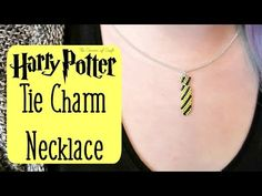 DIY Seed Bead Harry Potter Tie Charm Necklace How To // Bead Weaving // ...