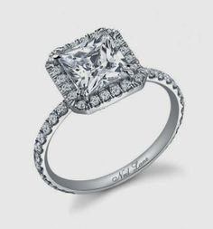 Big Square Engagement Rings Platinum Setting 6