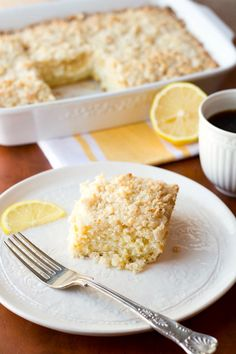 {recipe} Lemon Cream Cheese Coffee Cake. Defeat the winter blues with lemony cream cheese goodness