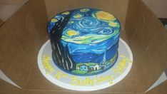 Did we mention this was all done freehand? | Community Post: Unbelievable Van Gogh Cake Will Make You Starry Eyed!