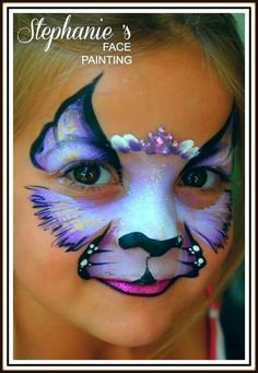 Lovely girly cat des Lovely girly cat design from Stephanie's face paintings. Face Painting Images, Animal Face Paintings, Face Painting Tutorials, Face Painting Designs, Simple Face Paint Designs, Animal Faces, Kitty Face Paint, Cat Face, Face Design
