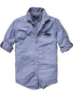 (2418) Fancy - Long-sleeved cotton shirt - Men - Scotch & Soda Online Shop