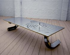 How would this table look inside your home? - Ripple Table by Lee Rowland Glass Table, A Table, Dining Table, Zaha Hadid, Cool Tables, Modern Table, Wooden Tables, Creative Home, Furniture Making