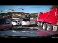 Dump truck barrels through red light, smashes cars | firefighting