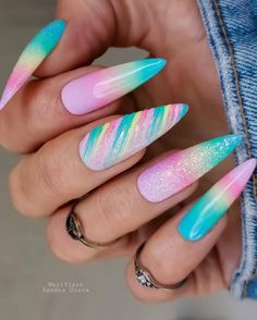 New Nail Art Design, Gel Nail Designs, Perfect Nails, Gorgeous Nails, Velvet Nails, Latest Nail Art, Diamond Nails, Neon Nails, Marble Nails