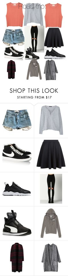 """""""Road trip"""" by jno712 ❤ liked on Polyvore featuring American Vintage, Levi's, MANGO, NIKE, Puma, Victoria's Secret and Rochas"""