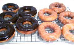 Homemade Krispy Kreme doughnuts.... yummm