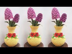 3D Origami Flower Vase V17 Tutorial | DIY Paper Vase Home Decor - YouTube