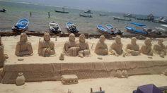 Sand Sculptures Puerto Morelos - Just Off  Fisherman's Pier