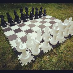 With chess pieces measuring between 20 and 30cm this set looks great and makes quite a statement! Hire the pieces and interlocking foam mat for only £20.