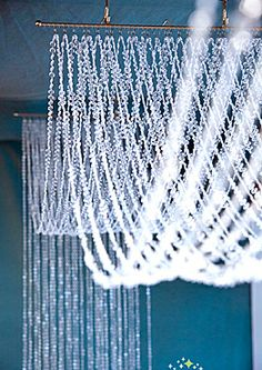 Bling Out with Crystal Ceiling Draping