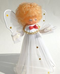 Vintage Kitsch Angel Christmas Tree Topper