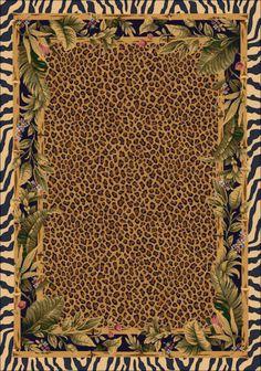 "8x11 Milliken Jungle Safari Skins Tropical Zebra Area Rug Approx 7'8""x10'9""   eBay"