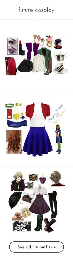"""""""future cosplay"""" by regan-gillespie ❤ liked on Polyvore featuring Annarita N., Betsey Johnson, Apiece Apart, NARS Cosmetics, Henri Bendel, Funtasma, Sans Souci, WearAll, Paco Rabanne and Ice"""