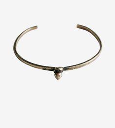 Brass Spike Cuff Bracelet by Robbie Simon Jewelry on Scoutmob
