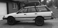 1987 Subaru GL AWD turbo wagon. The car that launched the WRX/EVO movement...with a lift and what appear to be small truck tires. Just when you think Bend Oregon is getting too Californicated, it totally redeems itself.