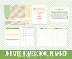 A Well-Feathered Nest: printable homeschool planner