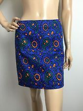 J.Crew Factory Stretch Floral Paisley Women's Skirt Size 0