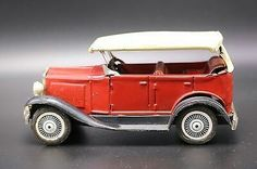 Vintage BANDAI RED Antique Friction TIN LITHO Japan TOY Car  $22.49Approx NOK187.37
