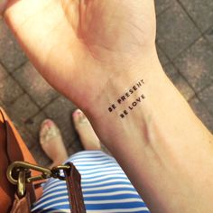 Intention temporary tattoos // genius! Perfect way to stay aligned with your affirmations all day long.